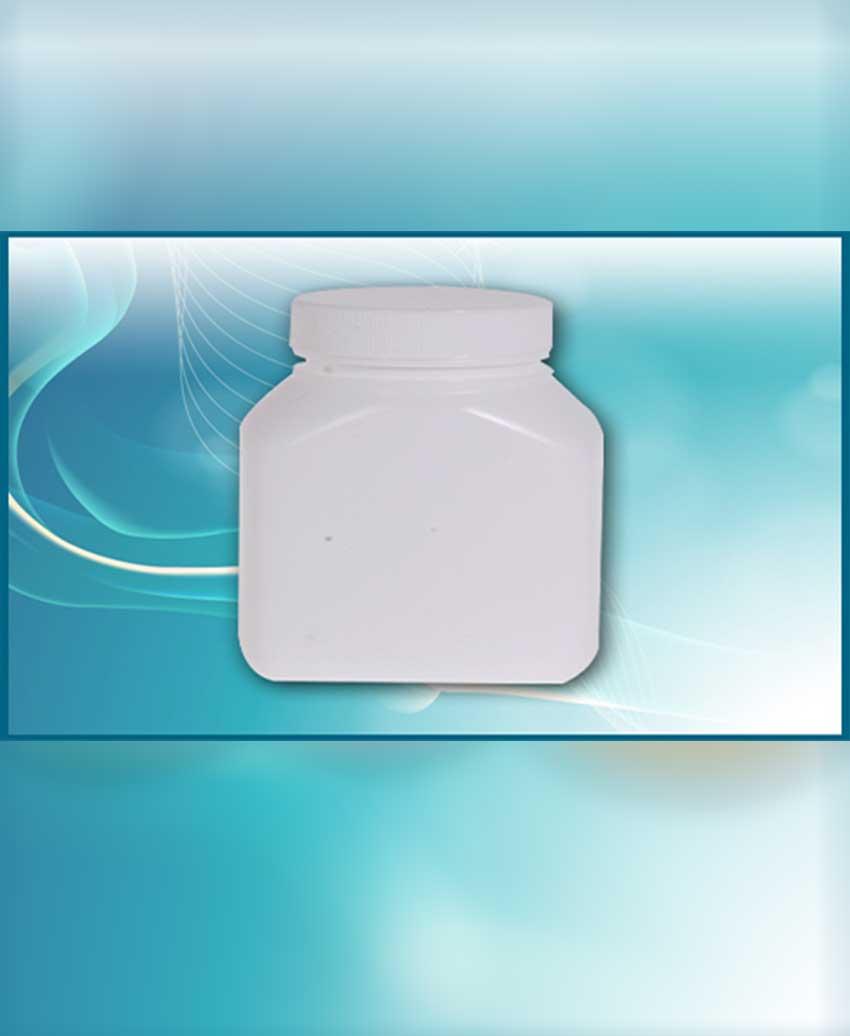 กระปุกยาเม็ดขาวขุ่นทรงเหลี่ยม แบบ A